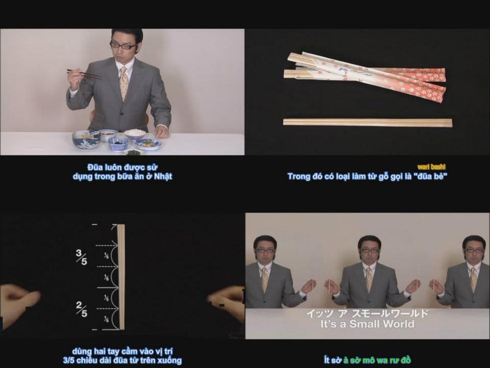 Cách dùng đũa (há sì) Nhật Bản