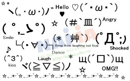 Kaomoji, biểu tượng cảm xúc của người Nhật Bản
