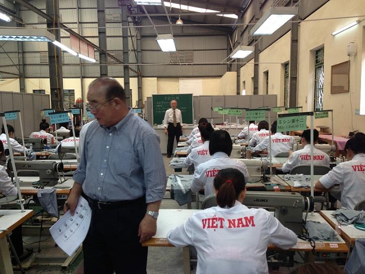 Khu chuyên đào tạo lao động may Nhật Bản công ty TTC