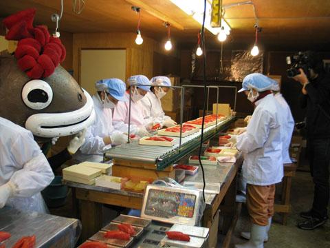 18 Nữ chế biến thủy sản tại Hokkaido tháng 9/2014