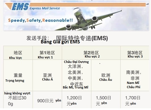 Chuyển hàng từ Nhật Bản về Việt Nam bằng dịch vụ EMS