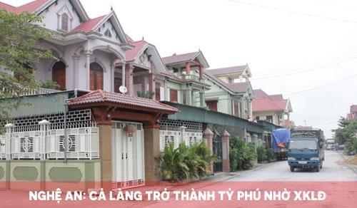 Nghệ An: Cả làng trở thành tỷ phú nhờ xuất khẩu lao động
