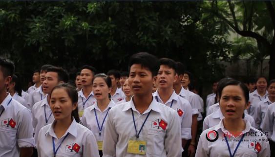 Thực tập sinh TTC Việt Nam hát Shiawase đón chào nghiệp đoàn Nhật Bản