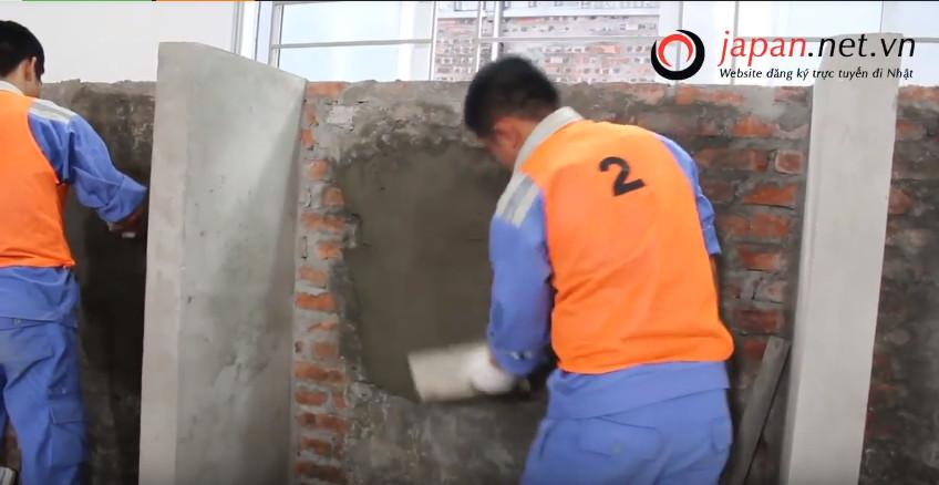 Thi tuyển đơn hàng xây trát tại trung đào tạo TTC Việt Nam ngày 27/02