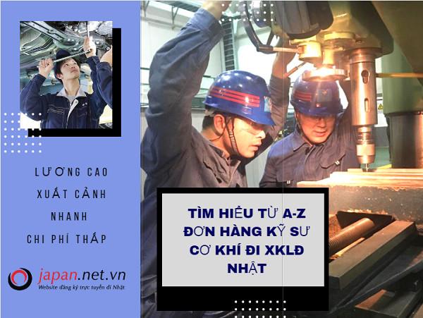 Tìm hiểu từ A-Z đơn hàng kỹ sư cơ khí đi XKLĐ Nhật