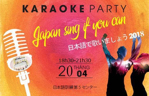 Thư mời tham dự cuộc thi hát karaoke tiếng nhật lần 1 tại trung tâm 5 TTC Việt Nam