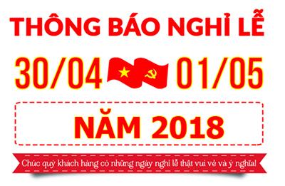 Thông báo lịch nghỉ lễ giỗ tổ Hùng Vương & Nghỉ lễ 30/4- 01/05/2018 tại TTC Việt Nam