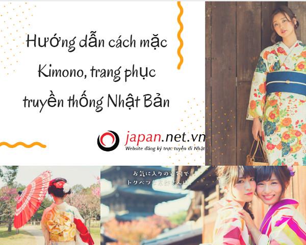 Hướng dẫn cách mặc Kimono, trang phục truyền thống Nhật Bản