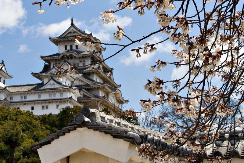 Lâu đài hạc trắng Himeji Nhật Bản