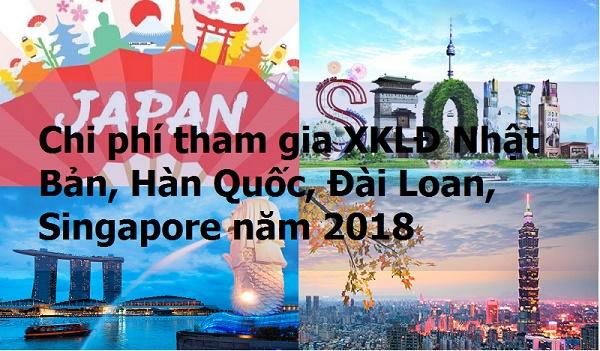Chi phi XKLĐ năm 2018 tại Nhật Bản, Đài Loan, Hàn Quốc và Singapore có gì thay đổi