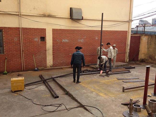 Đào tạo tay nghề hàn cho các học viên thi tuyển tháng 3/2014