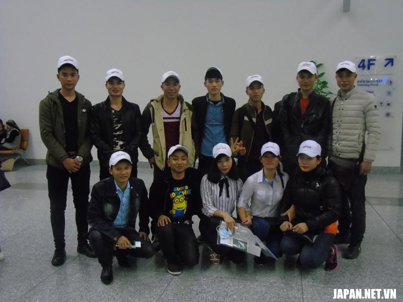 Tiễn bay 12 thực tập sinh xuất cảnh sang Nhật làm việc ngày 06/03/2018