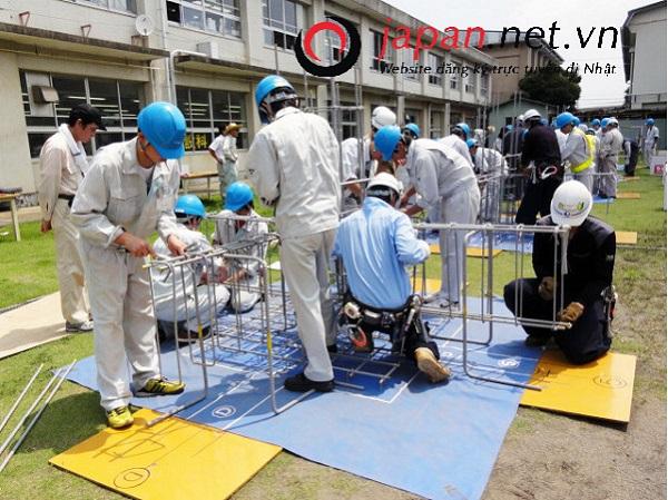 09 Nam gia công cốt thép tại Yamaguchi tháng 12/2018