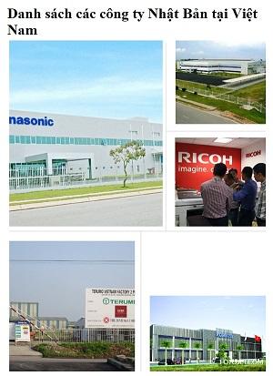 Danh sách các công ty Nhật Bản tại Việt Nam tuyển dụng