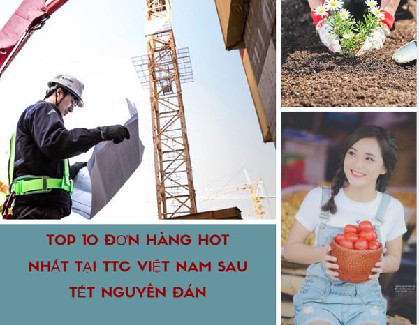 Tuyển tập TOP 10  đơn hàng lương cao thi tuyển tháng 01/2019