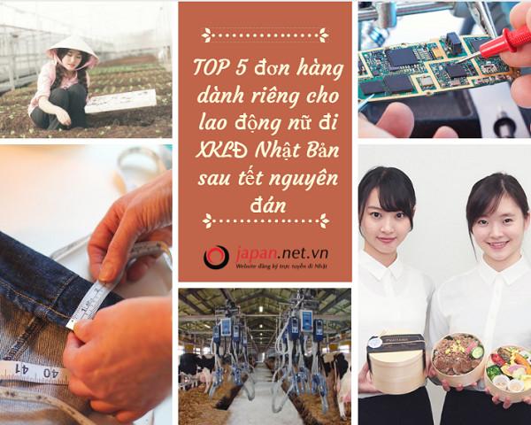 TOP 5 đơn hàng dành riêng cho lao động nữ đi XKLĐ Nhật Bản