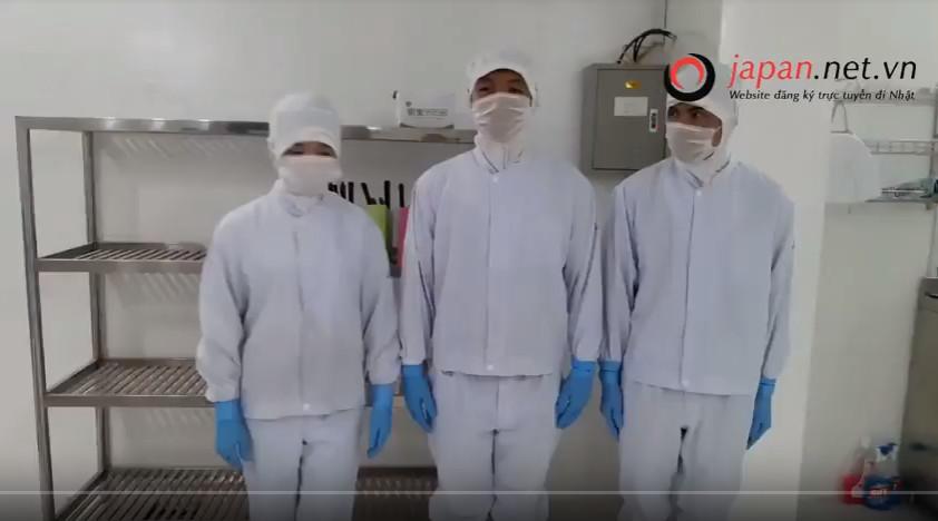 Thi tuyển thực hành qua skype đơn hàng chế biến thực phẩm đi Nhật