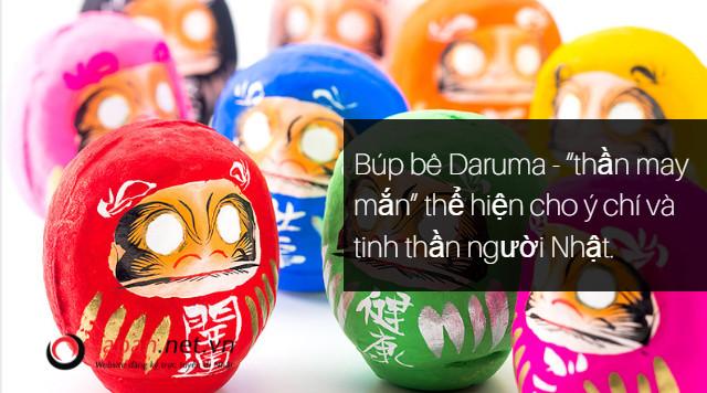 """Búp bê Daruma - """"thần may mắn"""" thể hiện cho ý chí và tinh thần người Nhật."""