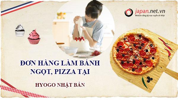 Đơn hàng làm bánh ngọt, Pizza làm việc tại Hyogo Nhật Bản lương siêu cao