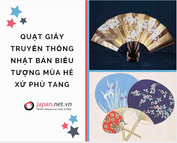 Quạt giấy truyền thống Nhật Bản biểu tượng mùa hè xứ phù tang