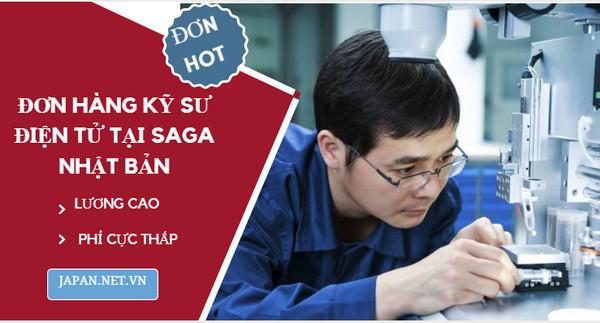Tuyển kỹ sư điện tử đi Nhật lương 48 triệu VNĐ, làm việc tại Saga