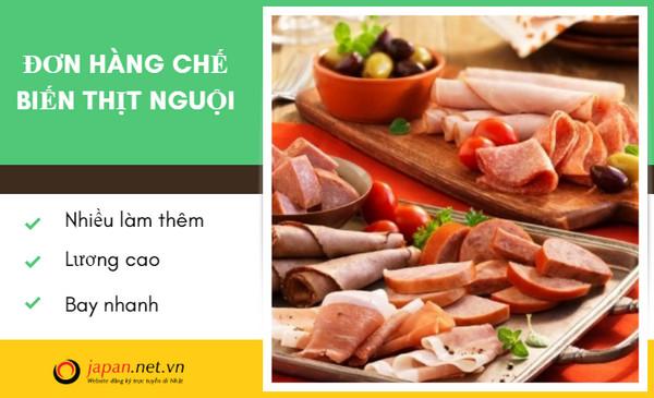 Đơn hàng chế biến thịt nguội lương cao tại Hokkaido Nhật Bản