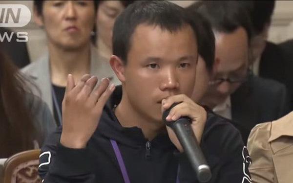 Quốc hội Nhật im lặng trước bài phát biểu xót xa của Thực tập sinh Nhật Bản