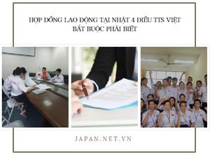 Hợp đồng lao động tại Nhật 4 điều TTS Việt bắt buộc phải biết