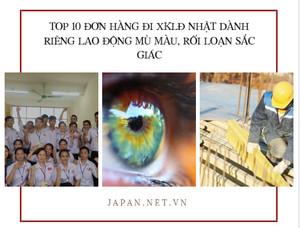 TOP 10 đơn hàng đi XKLĐ Nhật dành riêng lao động mù màu, rối loạn sắc giác