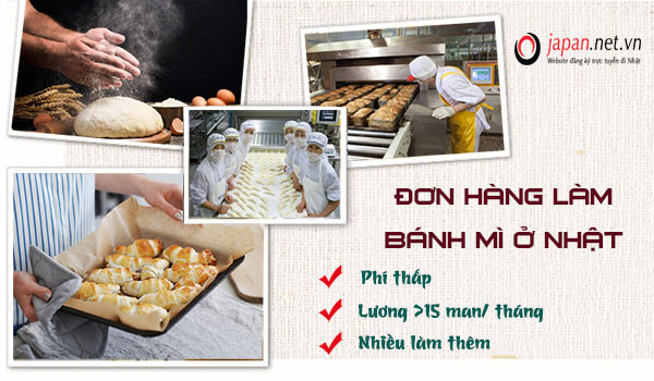 Đơn hàng sản xuất, đóng gói bánh mì tại AICHI, lương về tay 35tr/tháng