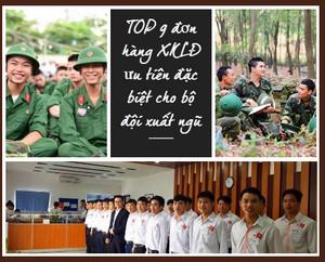 TOP 9 đơn hàng XKLĐ ưu tiên bộ đội xuất ngũ năm 2020