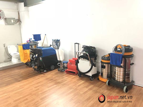 TTC Việt Nam đầu tư cơ sở vật chất, trang thiết bị thi tuyển đơn hàng vệ sinh tòa nhà