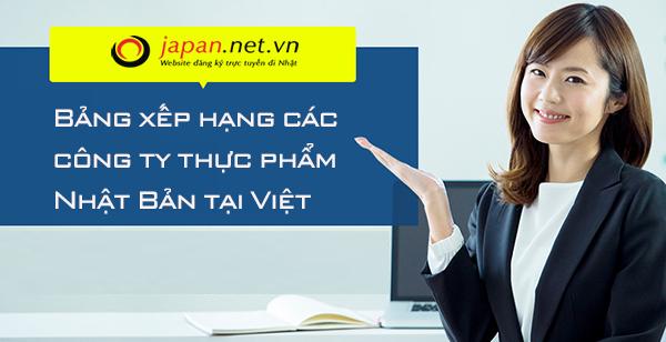 Bảng xếp hạng các công ty thực phẩm Nhật Bản tại Việt Nam
