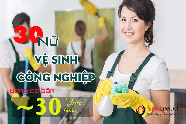 CẦN GẤP: 30 Nữ đơn hàng vệ sinh công nghiệp tại Nhật Bản- PHÍ CỰC THẤP
