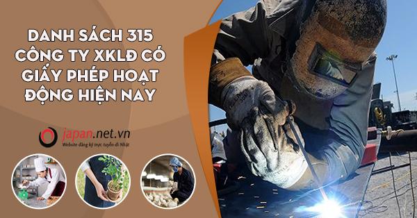 Danh sách 315 công ty XKLĐ có giấy phép hoạt động hiện nay
