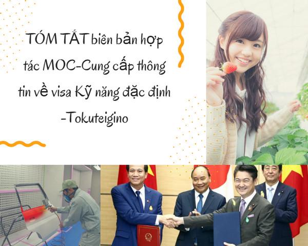 TÓM TẮT biên bản hợp tác MOC-Cung cấp thông tin về visa Kỹ năng đặc định -Tokuteigino