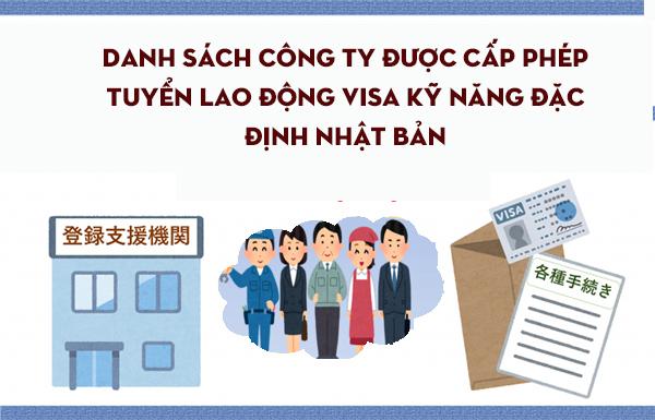 195 công ty được cấp phép tuyển lao động visa kỹ năng đặc định Nhật Bản