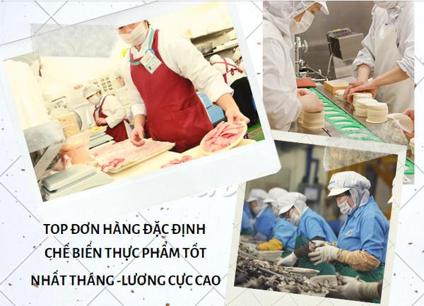 TOP đơn hàng đặc định chế biến thực phẩm tốt nhất tháng 01/2020 -lương cực cao