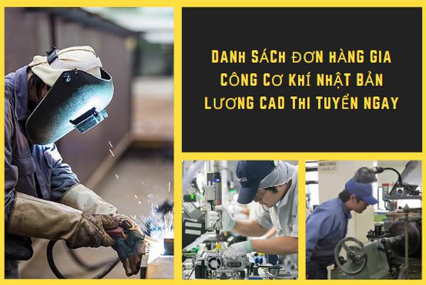Danh sách đơn hàng gia công cơ khí Nhật Bản LƯƠNG CAO THI TUYỂN NGAY