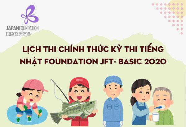 Lịch thi chính thức kỳ thi tiếng Nhật Foundation JFT- Basic 2020