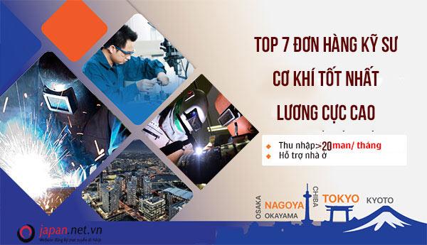 TOP 7 đơn hàng kỹ sư cơ khí tốt nhất tháng 06/2020 lương cực cao