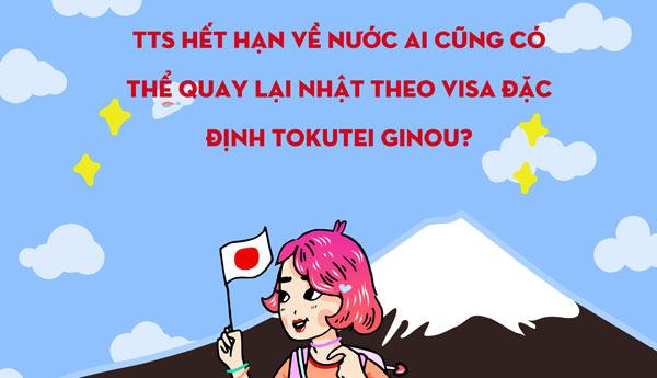 TTS hết hạn về nước ai cũng có thể quay lại Nhật theo VISA ĐẶC ĐỊNH TOKUTEI GINOU?