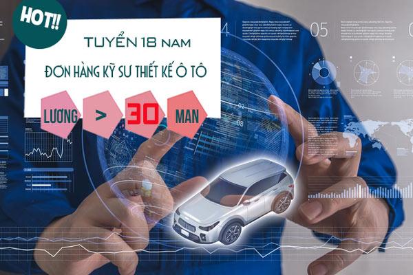 [ĐƠN HIẾM] - Cơ hội cho 18 nam đơn hàng kỹ sư thiết kế ô tô tại Aichi- Lương > 70 triệu/tháng