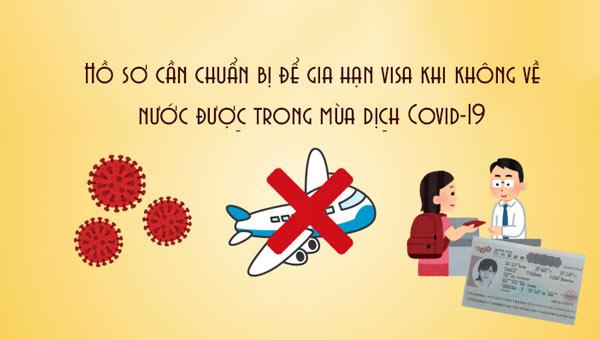 Hồ sơ cần chuẩn bị để gia hạn visa khi không về nước được trong mùa dịch Covid-19