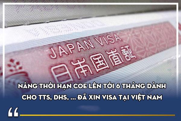 Nâng thời hạn COE lên tới 6 tháng dành cho TTS, DHS, ... đã xin tại Việt Nam