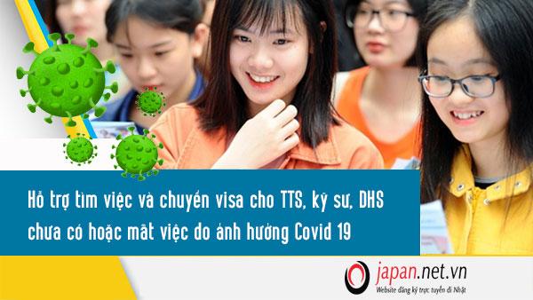 Hỗ trợ tìm việc và chuyển visa cho TTS, kỹ sư, DHS chưa có hoặc mất việc do ảnh hưởng Covid 19