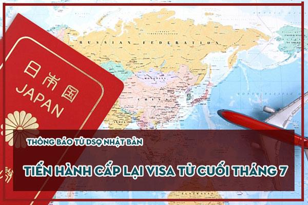 Bắt đầu cấp lại visa đi Nhật từ cuối tháng 7