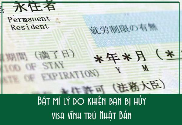 Bật mí lý do khiến bạn bị hủy visa vĩnh trú Nhật Bản