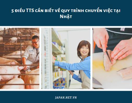 5 điều TTS cần biết về quy trình chuyển việc tại Nhật