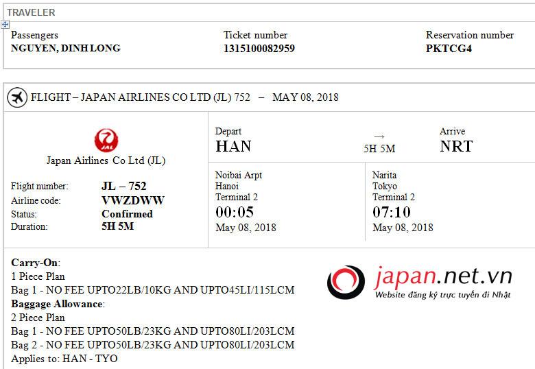 Bay từ Việt Nam sang Nhật Bản mất mấy tiếng? giá vé thế nào?